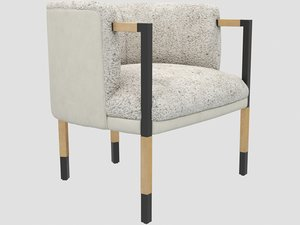 3D larchmont chair burnished bronze