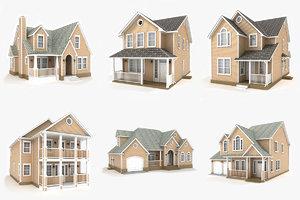 hi-poly cottages vol 9 3D