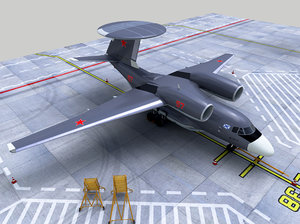 antonov-71 awacs ussr russian 3D model