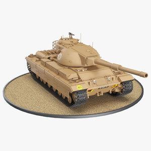 3D model fv 214 conqueror desert