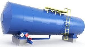 3D tank pipes model