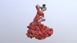 3D flamenco dancer spain magnet