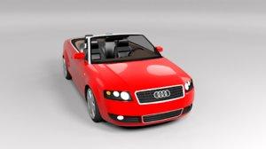 3D audi cabrio a4