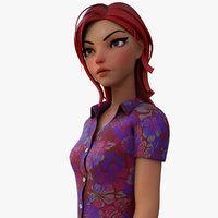 Violet Ver:2 Cartoon Girl