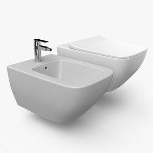 toilet bidet 3D model