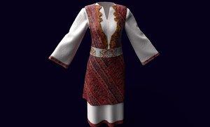 3D traditional slavic clothes model