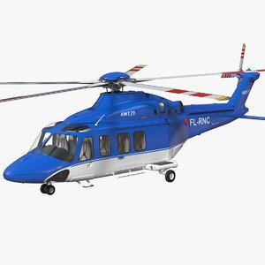 3D agustawestland aw139 helicopter