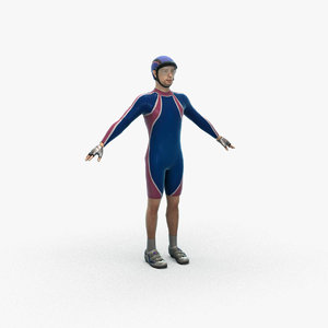 japanese male cyclist 3D model