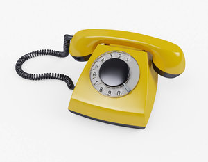 telephone dial 3D model