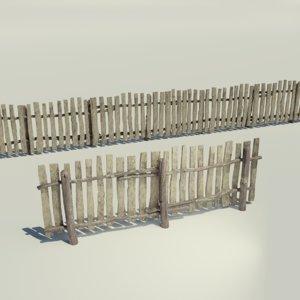 wooden fence model