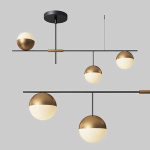 chandelier modern mid-century 3 3D model