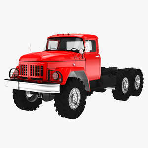 flatbed truck 3D