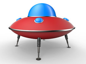 cartoon ufo 3D