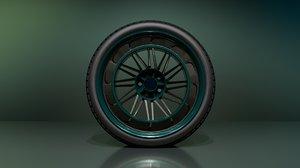 c12n6 wheels 3D model
