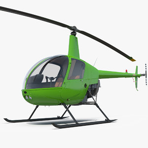 light utility helicopter rotor 3D model