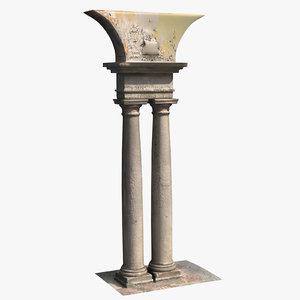 3D pillar scan 001 model