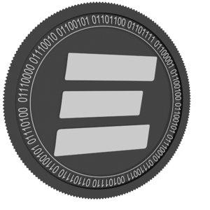 3D esports token black coin