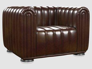 club 1910 chair josef 3D