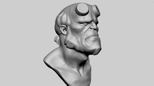 3D hellboy bust model