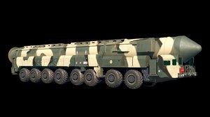 3D yars topol ss-29 ss-27 model