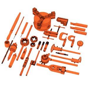metal turning tools set 3D