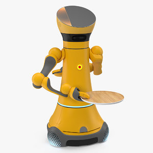 service robot wooden tray 3D model