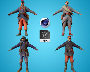 3D model army man force