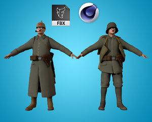3D character human model