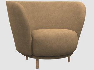 3D dandy armchair massproductions