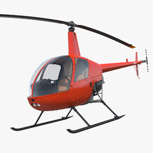 3D lightweight helicopter rotor light model