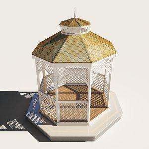 3D alcove pavilion exterior architecture model