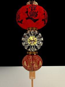 chinese red lantern 3D