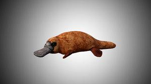 3D platypus rigged model