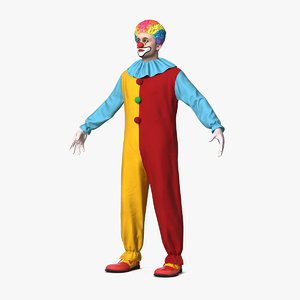 circus clown costume 3D