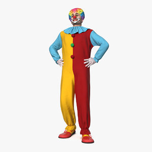 men clown suit rigged 3D model