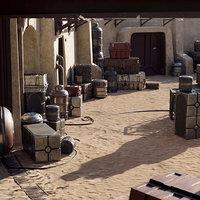 Star Wars Cargo Crates and Barrels 33 Variants - 3D Asset Kit PBR