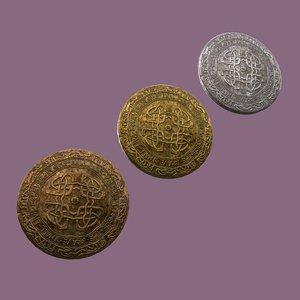 3D medieval pin design