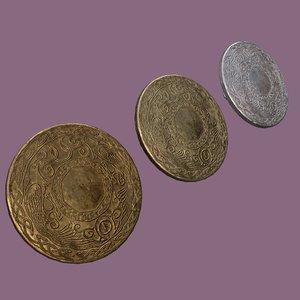 3D model medieval lapel pin design