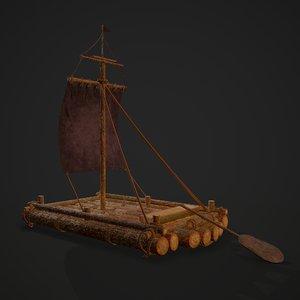 3D medieval raft