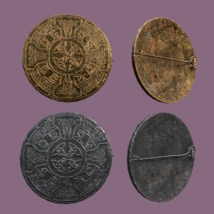 3D medieval pin design model