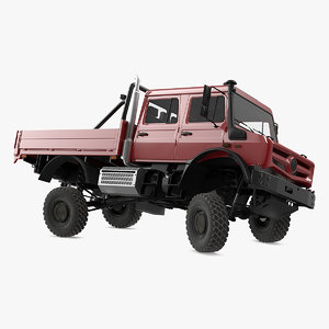 3D model road cargo truck rigged