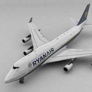 3D boeing 747 ryanair l823 model