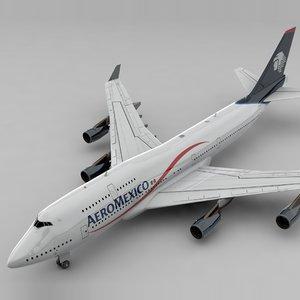 boeing 747 aeromexico l824 3D