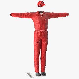 auto mechanic clothes model