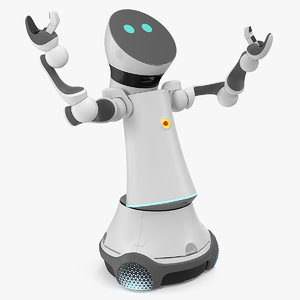 3D care-o-bot 4 service robot model