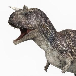 3D carnotaurus dinosaur pbr