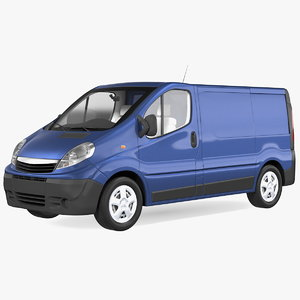3D commercial cargo van cars