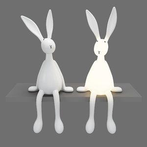 3D model joseph bunny lamp