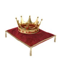 Kings Crown with Red Pillow