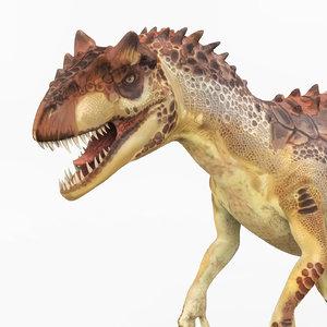 3D trex dinosaur pbr model